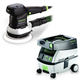 Festool PM571786 6 in. Random Orbital Finish Sander with CT MINI 2.6 Gallon Mobile Dust Extractor
