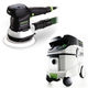 Festool P36571786 6 in. Random Orbital Finish Sander with CT 36 E 9.5 Gallon HEPA Mobile Dust Extractor