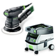 Festool PM571817 5 in. Random Orbital Finish Sander with CT MINI 2.6 Gallon Mobile Dust Extractor