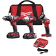 Factory Reconditioned Milwaukee 2691-83 M18 18V Cordless Lithium-Ion 3-Tool Combo Kit