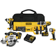 Factory Reconditioned Dewalt DCK590L2R 20V MAX 3.0 Ah Cordless Lithium-Ion 5-Tool Combo Kit