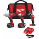 Factory Reconditioned Milwaukee 2696-83 M18 18V Cordless Lithium-Ion 3-Tool Combo Kit