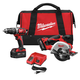Factory Reconditioned Milwaukee 2698-82 M18 18V Cordless Lithium-Ion 1/2 in. Hammer Drill and Metal Saw Combo Kit
