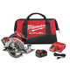 Factory Reconditioned Milwaukee 2731-82 M18 FUEL 18V Cordless Lithium-Ion 7-1/4 in. Circular Saw Kit with 2 Batteries