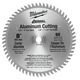Milwaukee 48-40-4530 8 in. Aluminum Circular Saw Blade (60 Tooth)