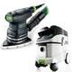 Festool P36567871 Delta Orbital Finish Sander with CT 36 E 9.5 Gallon HEPA Mobile Dust Extractor