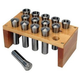 JET 650015 Premium 18-Piece 5-C Collet Set with Rack