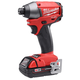 Factory Reconditioned Milwaukee 2653-82CT M18 FUEL 18V Cordless Lithium-Ion 1/4 in. Impact Driver Kit with CP Batteries