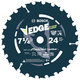 Bosch DCB724D Daredevil 7-1/4 in. 24 Tooth Circular Saw Blade for Decking and Wet Lumber