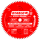 Diablo D0770F 7-1/4 in. 70 Tooth Steel Demon Ferrous Metals Saw Blade