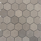 Lady Gray Hexagon Honed Marble Tile