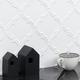 Byzantine Arabesque Bianco Ceramic Wall Tile