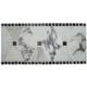 Kelli Ellis Alexa Border Marble & Mirror Tile
