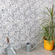 Wildflower Blue Note Marble Tile