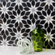 Wildflower Black Horizon Marble Tile