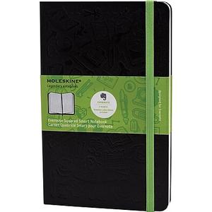 Moleskine Evernote Smart Notebook, Large, Ruled, Hard Cover