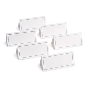 about gartner studios place cards white silver