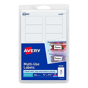 About: Avery® 5430 Print-or-Write Multiuse ID Labels, 3/4
