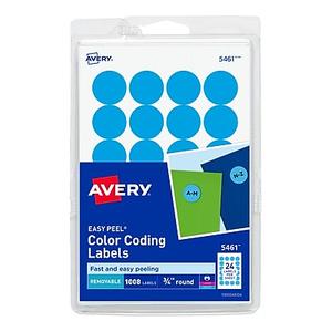 Avery round 34 diameter print and write color coding labels about avery 5461 round 34 diameter print write color coding l saigontimesfo