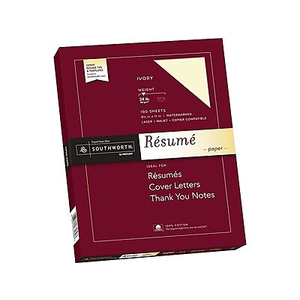 SOUTHWORTH 100% Cotton Resume Paper, 8 1/2\