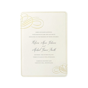 gartner studios invitation envelope formal gold foil swirl staples