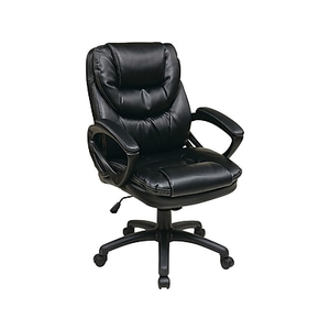 office star worksmart leather managers office chair fixed arms
