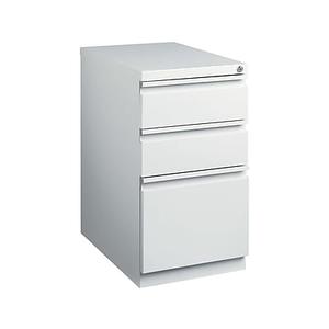 About: Staples 3 Drawer Mobile Pedestal File Cabinet, Light Grey (2.