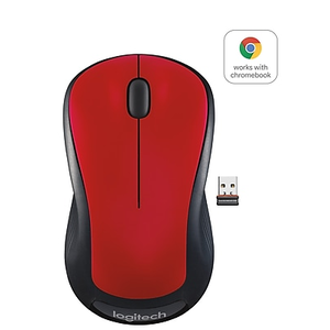 Logitech M310 Wireless Laser Mouse, Ambidextrous, Black/Silver (910