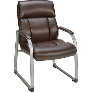 About: Staples Herrick Bonded Leather Guest Chair, Brown