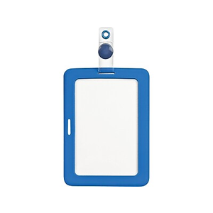 cosco myid rubberized id badge holder staples