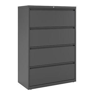staples commercial 3-drawer lateral file cabinet, black | staples 1 drawer file cabinet