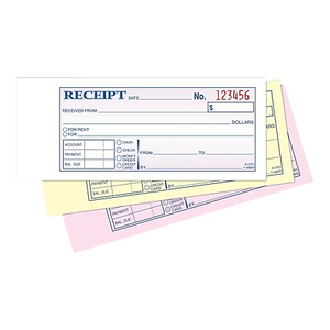 About: Adams® Carbonless Money/Rent Receipt Books, 2 3/4  Money Receipts