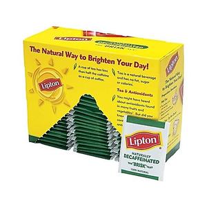 About Lipton Hot Tea Orange Pekoe And Cut Black Blend Individual Wred Bags