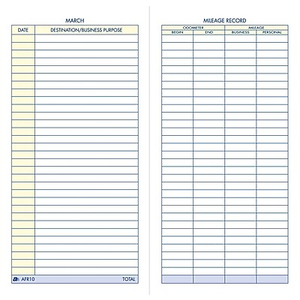 adams vehicle mileage and expense record book 3 1 4 x 6 1 4