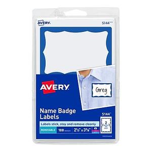 avery print or write name tags gold border 2 11 32 x 3 3 8