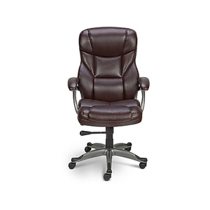 Staples Osgood Bonded Leather High Back Manageru0027s Chair, Black | Staples
