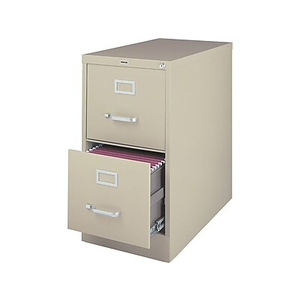 About: Staples 2 Drawer Letter Size Vertical File Cabinet, Putty (2.
