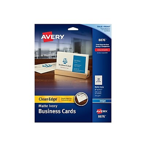 Avery clean edge 2 side printable inkjet business cards white 2 x about avery clean edge inkjet business cards ivory 2 x 3 12 colourmoves