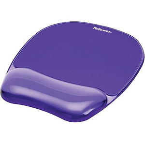 fellowes crystal gel mouse pad wrist rest blue staples