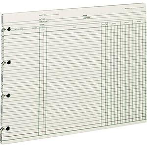 wilson jones end balance ledger forms 9 1 4 x 11 7 8 white staples