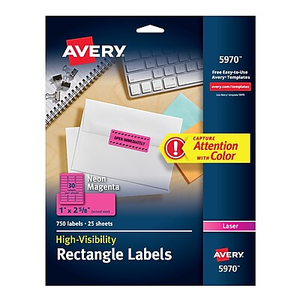 Office supplies technology ink much more staples about avery 5970 neon laser address labels 1 x 2 58 neo saigontimesfo