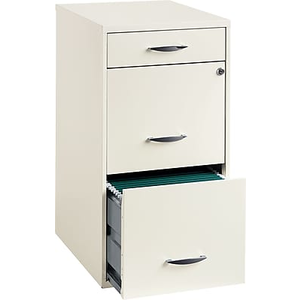 About: Office Designs 3 Drawer Vertical File Cabinet Cabinet, White.