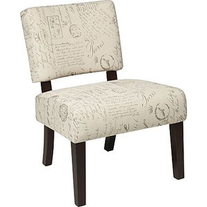About: Office Star Avenue Six® Wood Jasmine Accent Chair, Script
