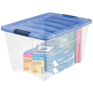 About: IRIS Stack & Pull 54 Qt. Latch Lid Storage Box, Clear (