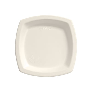 About SOLO® Bare™ Sugarcane Plates 8 1/4\  Ivory 125/Pack. paper plates & SOLO® Bare™ Sugarcane Plates 10\