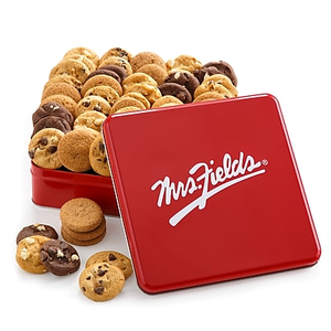 About Mrs Fields Original Cookies Red Tin 60 Pieces