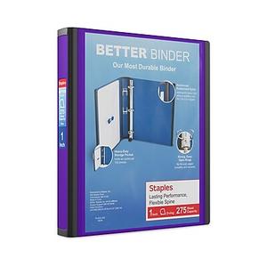 staples better 1 inch slant d 3 ring view binder black 13395