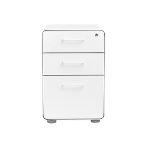 About: Poppin, Stow File Cabinet, 3 Drawer, White (100425)