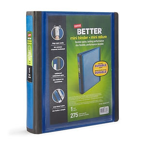 1 staples better 5 1 2 x 8 1 2 mini view binders with d rings
