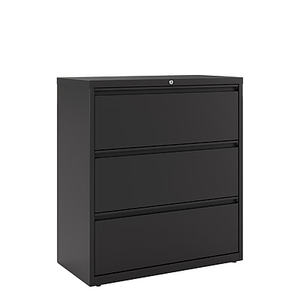 About: Staples Commercial 3 Drawer Lateral File Cabinet, Black